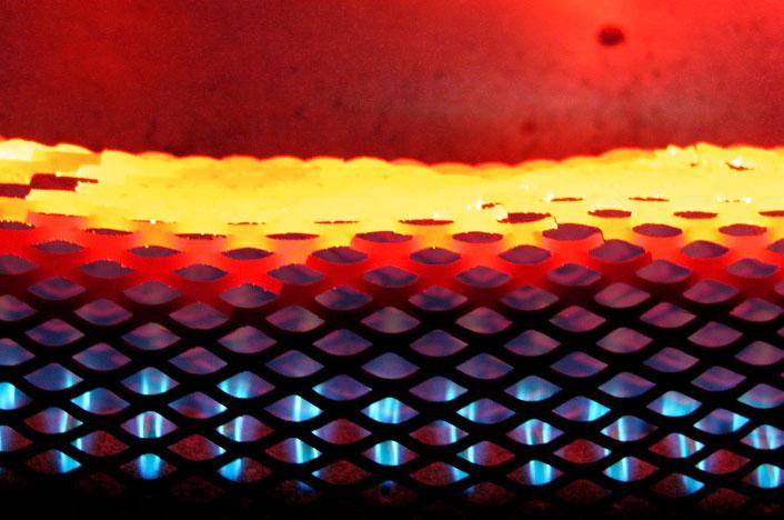 Llama de gas en estufa