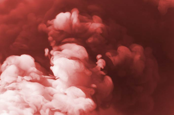Gases contaminantes - Humo rojizo