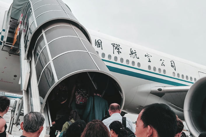 avión chino contaminación