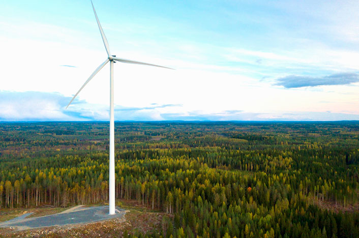 Potencia de la energía eólica