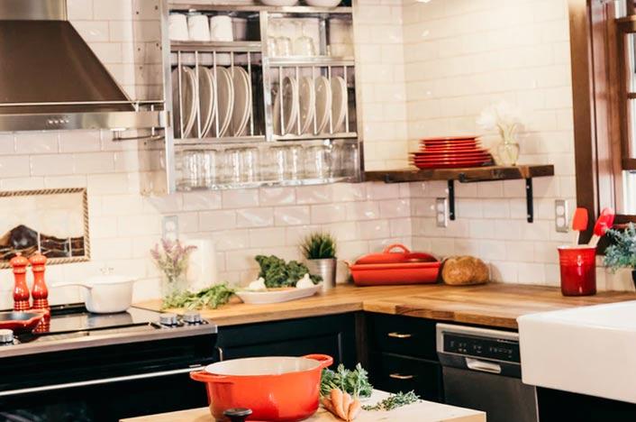 Cocina para el ahorro de energía en el hogar