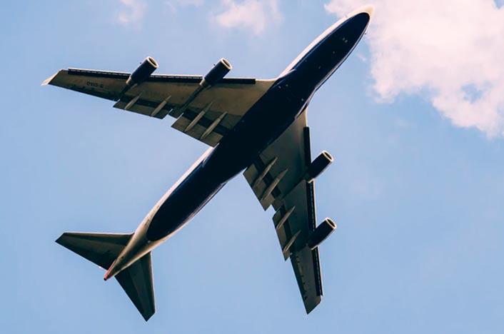 Avión y huella de carbono