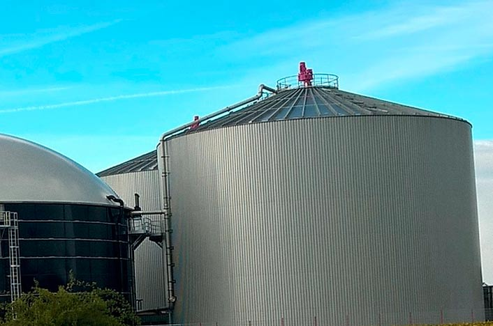 Contenedor de biogás