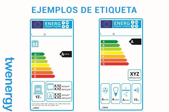 ejemplos de etiqueta de eficiencia energética B A