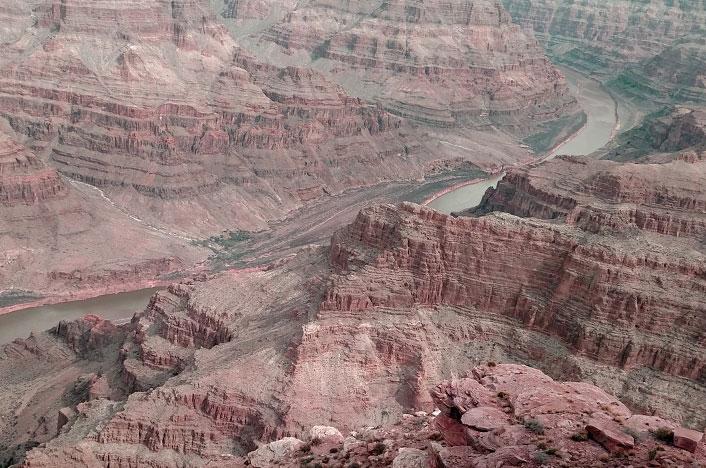 Erosión ocasionada por un río