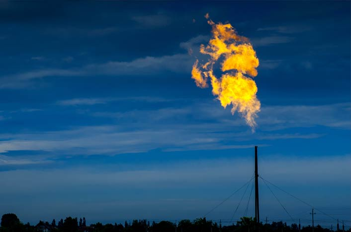 Gas ardiendo - Gases contaminantes