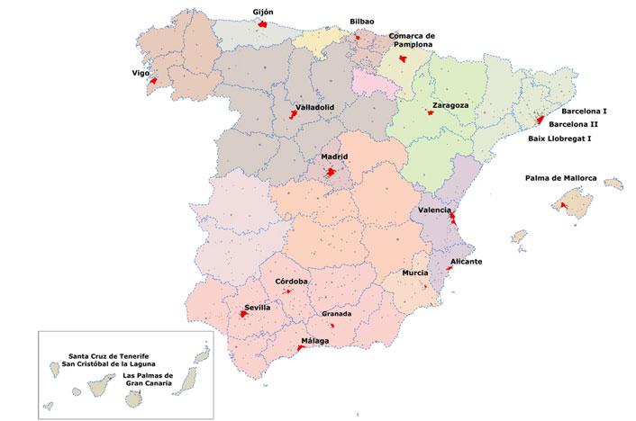 Mapa de contaminación acústica España