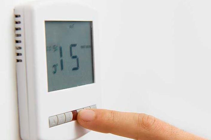 Poniendo la temperatura ideal de la calefacción que son 21 grados