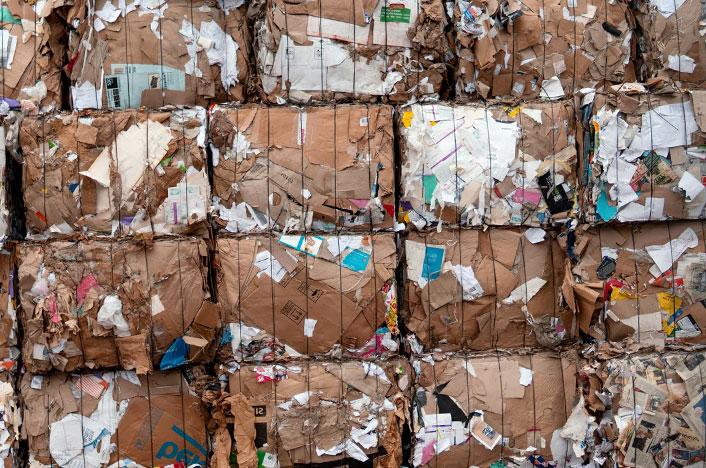 Bloques de papel para reciclar