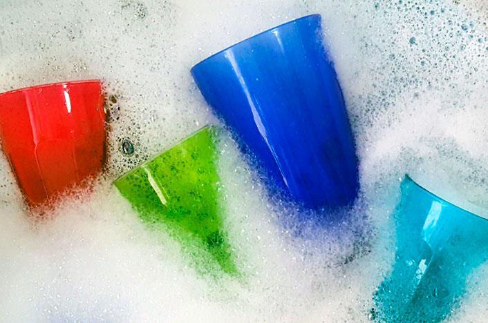 Jabón en vajillas