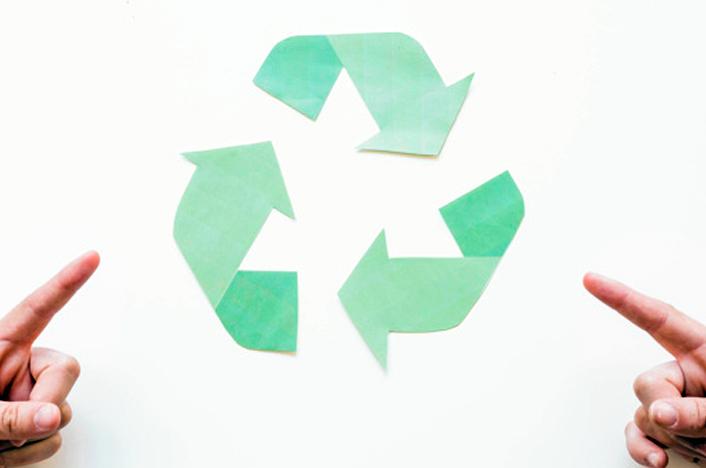 símbolo de reciclaje