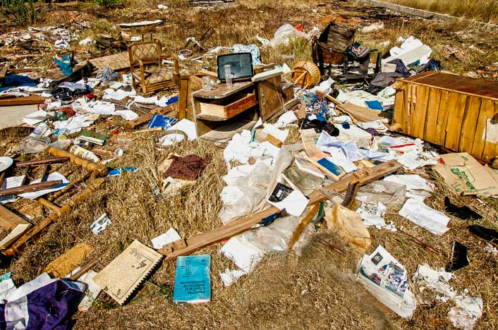 vertido de basura