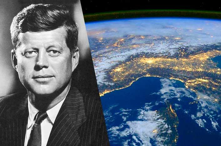 John F Kennedy y el planeta Tierra