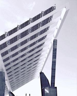 Panel que genera energía solar