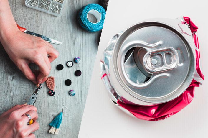 reutilizar las anillas de las latas