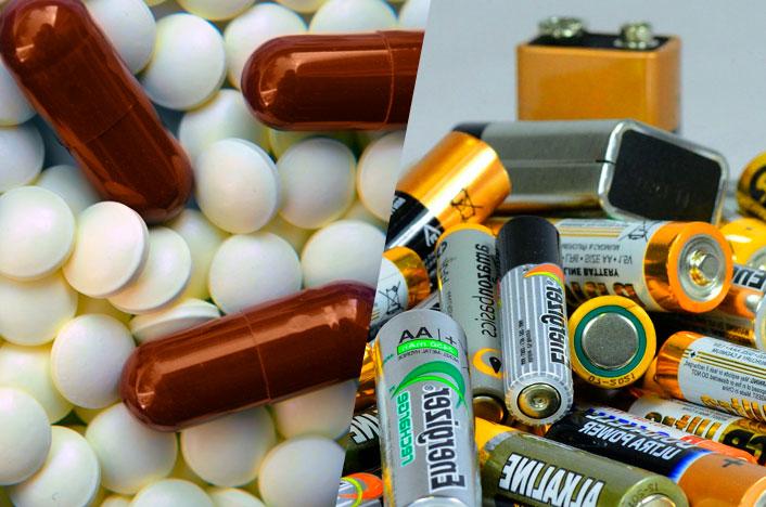 medicamentos y baterías