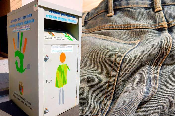 tipos de contenedores de reciclaje de ropa