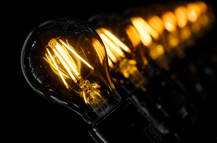 bombillas encendidas