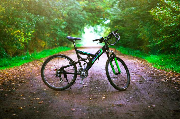 bicicleta eléctrica en montaña
