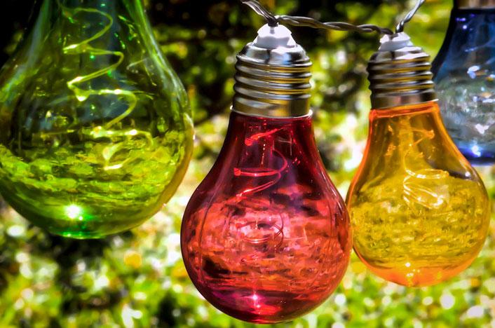 bombillas de colores