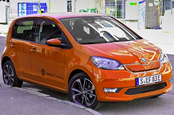 Skoda Citigo iV, uno de los coches eléctricos baratos en España
