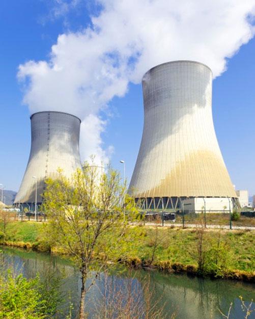 central nuclear cerca de río