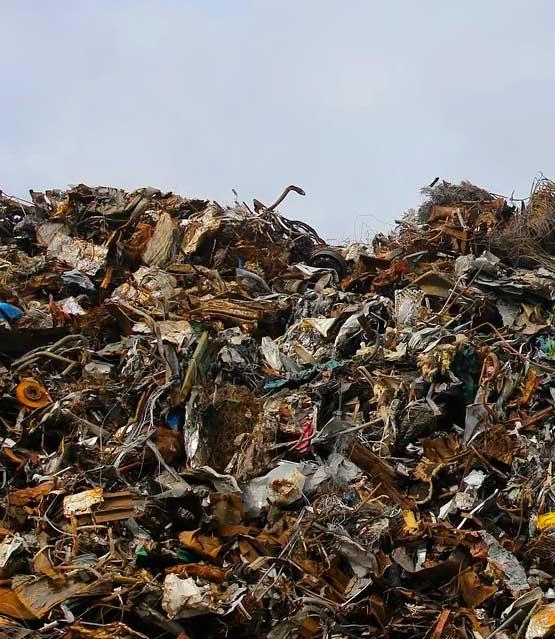 montón de residuos