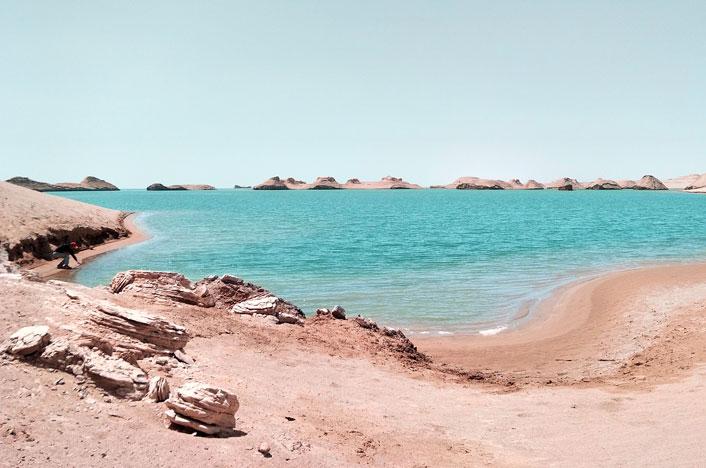 lago en época de sequía