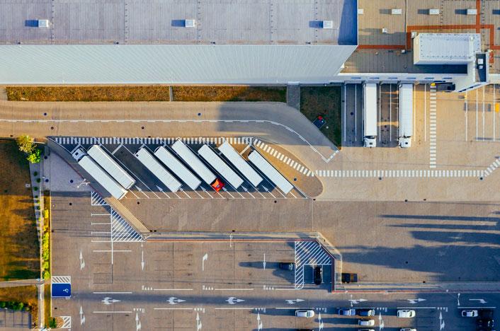 vista aérea de una industria